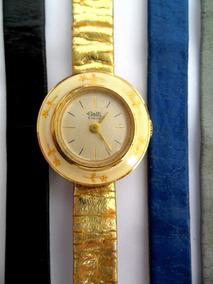 Relógio Galli Suiço Antigo Corda 17 Rubis Plaquê Ouro Estojo