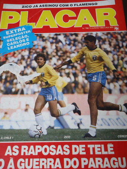 Revista Placar Paraguai Futebol De Areia Rio De Janeiro 1985