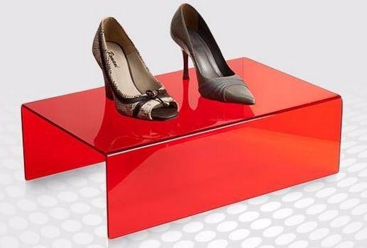 Display Expositor Acrílico Calçados Sapatos Kit 3 Peças