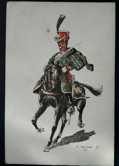 Antiguo Postal Soldado Uniforme Militar Belga