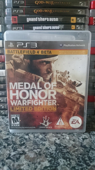 Medal Of Honor Warfighter Limited Edition Ps3-frete R$10