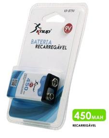 Bateria 9v Recarregável De 450mah Blister Kp-bt9v