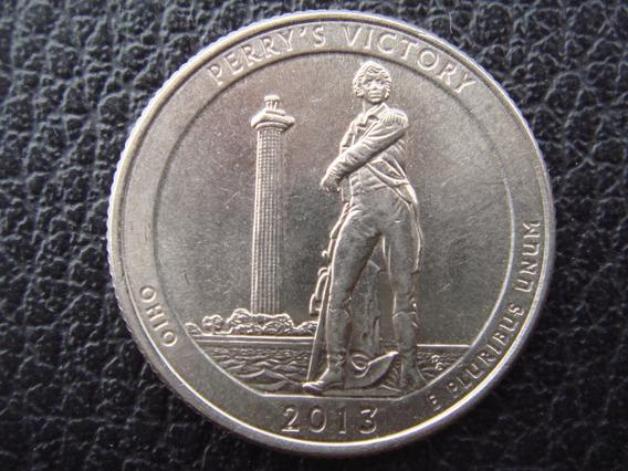 U.s.a. - Moneda D 25 Centavos Parques Año 2013 - Muy Bueno