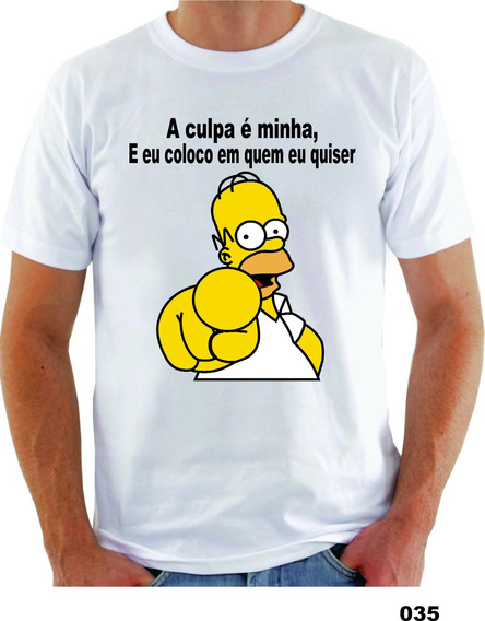 Camisa Aculpa É Minha Engraçada Sátira (simpsons)