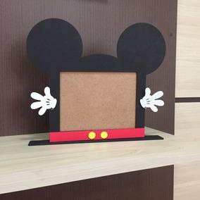 Kit Com 10 Porta Retrato Mickey Lembracinha Personalizada