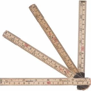 Escala Métrica De Madeira Com 1 M, 6 Dobras, Cm, Stabila