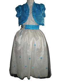 Nuevo Vestido Largo Y Saco Pajecita Princesa 6 Y 8 Años