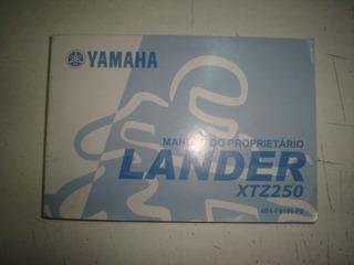 Manual Moto Yamaha Lander Xtz 250 2007 2008 2009 Original