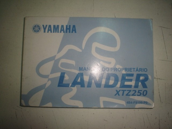 Manual Moto Yamaha Lander Xtz 250 2007 2008 2009 Original