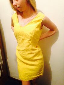 Vestido Corto Amarillo De Género Talla M