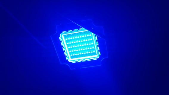 Chip Super Led 50 Watt Azul P/ Refletor 50w + Drive
