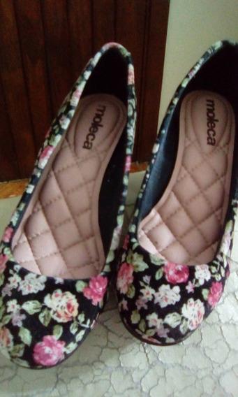 Sapato Moleca Num 35 Florido De Salto - Usado