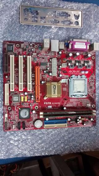 Kit Placa Mae Pc Chips P27g Ddr-2 1gb Dual-core Com Espelho