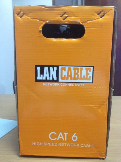 Cable Utpcat6 Bobina 305metros Lancable 70% Cobre Mrd7458495