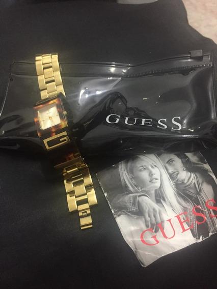 Relógio Guess Dourado_ Usado!!! Leiam O Anúncio