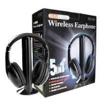 Auricular Inalambrico Con Microfono 5 En 1 Pc, Tv, Mp3, Hifi