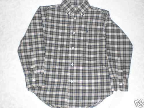 Camisa Ralph Lauren Gris Manga Larga Talla 5