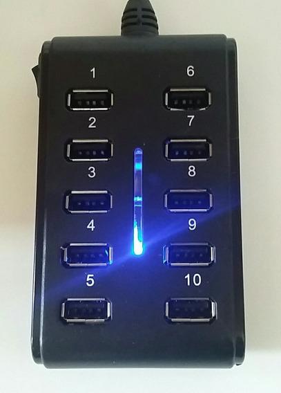 Mini Hub Usb 2.0 10 Portas