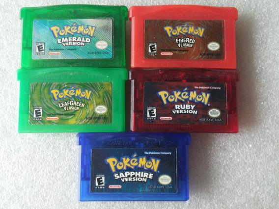 Pokemon Fire Red + Emerald + Ruby + Sapphire + Leaf Green
