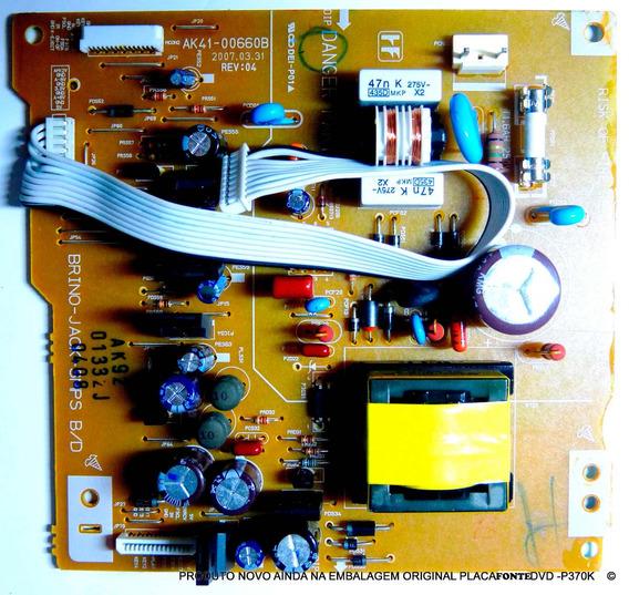 Placa Fonte Dvd Samsung P/370/xaz Ak41-00660b Ak92-01332j