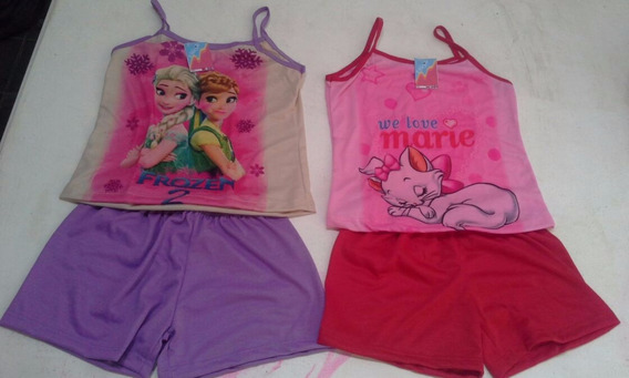 Pijamas Babydoll Infantil 10 Perças