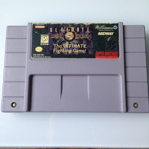 Cartucho Mortal Kombat 3 Ultimate Original - Super Nintendo