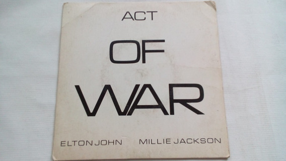 Compacto - Elton John & Millie Jackson - Act Of War - 1985