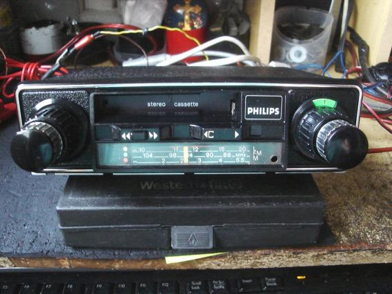 Radio Toca Fitas Philips Alemao Original Carro Antigo Vw Gm