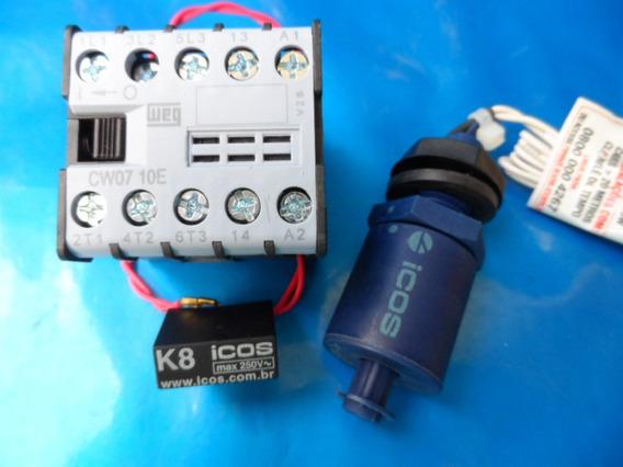 1 Sensor Nível Água Vertical+ Filtro+contt110v Eicos Lc26m40