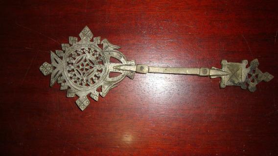 Gargantilha 23x8cm Chave De Cristo (tumulo) Cópia Raridade