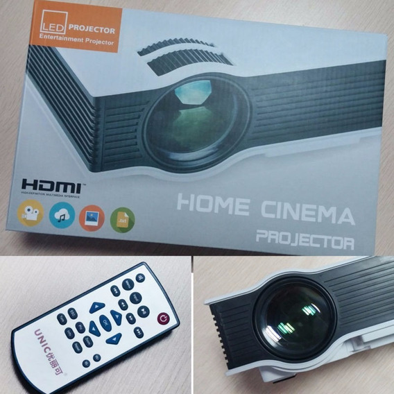 Projetor Led Uc40+ 800 Lumens Hd Hdmi Data Show Xbox Ps4 Top