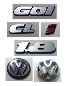 Kit Emblemas Volkswagen Gol Cl 1.8 I Vw Mala E Grade 90/97