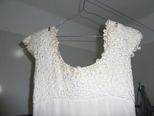 Vestido De Fiesta De 15 Largo Blanco Con Piedras! Hermoso!