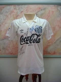 Camisa Futebol Santos Sp Autografada Lendas Pelé, Outros 892