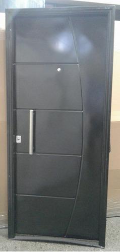 Puerta Doble Chapa Inyectada C/barral Pesada 80x200