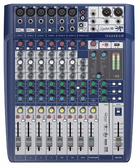 Mesa De Som Soundcraft Signature 10 Mixer Analógico - C/ Nf