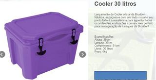 Caixa Térmica - Cooler 30 Litros - Lilas- Lançamento Cooler