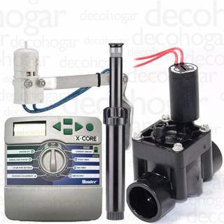 Sistema De Riego Automatico Kit 4 Zonas Hasta 300 M2 Aprox