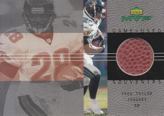 2000 Ud Mvp Game Football Souvenir Fred Taylor Rb Jaguars