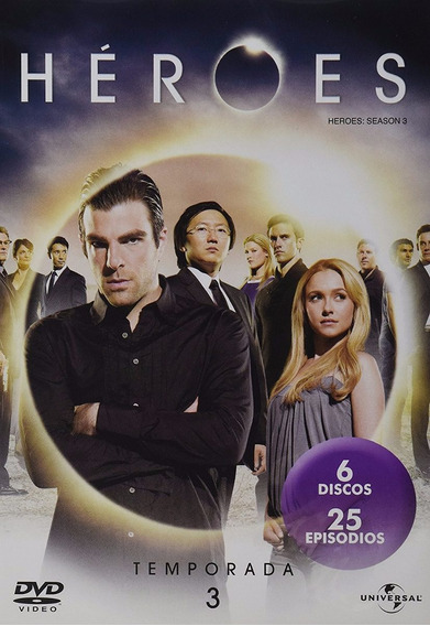 Heroes Tercera Temporada 3 Tres Dvd