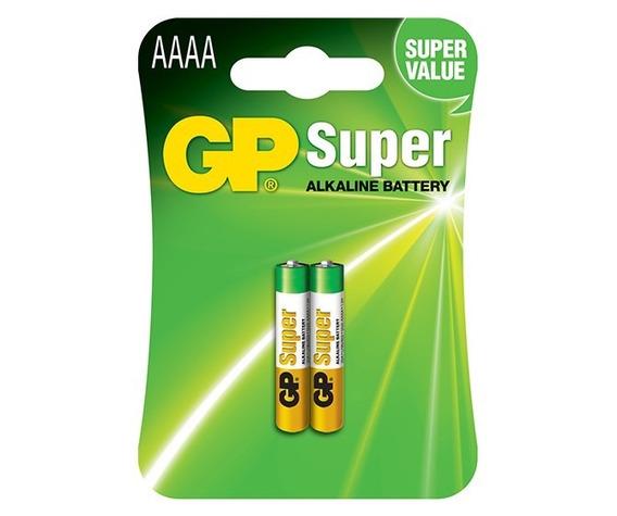 Pilha Gp Aaaa 4a 1,5v Super Alcalina Cartela C/ 2 Gp25a-2u2