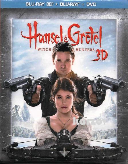 Hansel & Gretel Blu-ray 3d + Blu-ray + Dvd