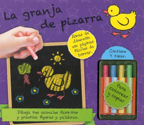 Libro: Granja De Pizarra (contiene 4 Tizas De Colores)