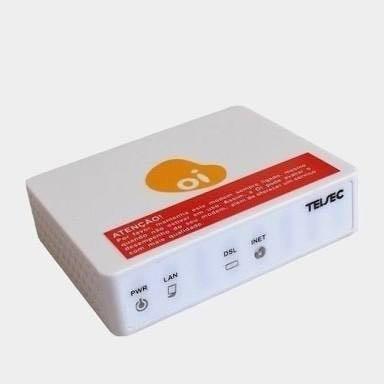Modem Roteador Oi Telsec Ts9000 2/2+ Downstream Até 24 Mbps