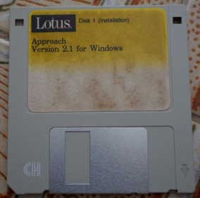 Disquete Lotus: Disk 1 Installation - Approach Version 2.1
