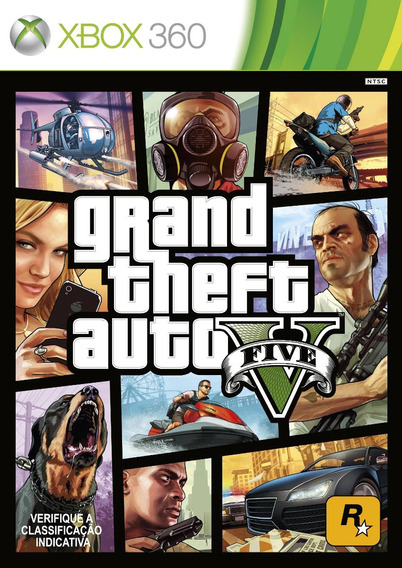 Jogo Gta V Grand Theft Auto 5 Xbox 360 Portugues