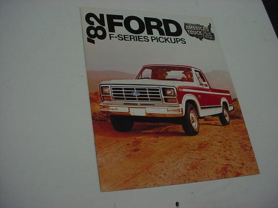 Folder Ford F100 F-100 Pickup Picape 82 1982 F150 F250 F350