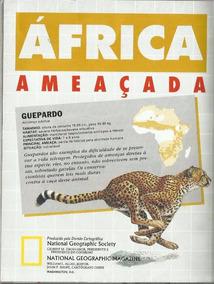 812 Rvt- 1991 Mapa National Geographic- África Ameaçada