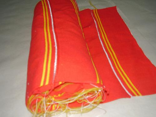 Cuello Para Chombas Rojas Con Tiras Amarillas Ven X 30 Unid