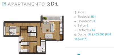 Apto 2 Dormitorios Nostrum Centenario